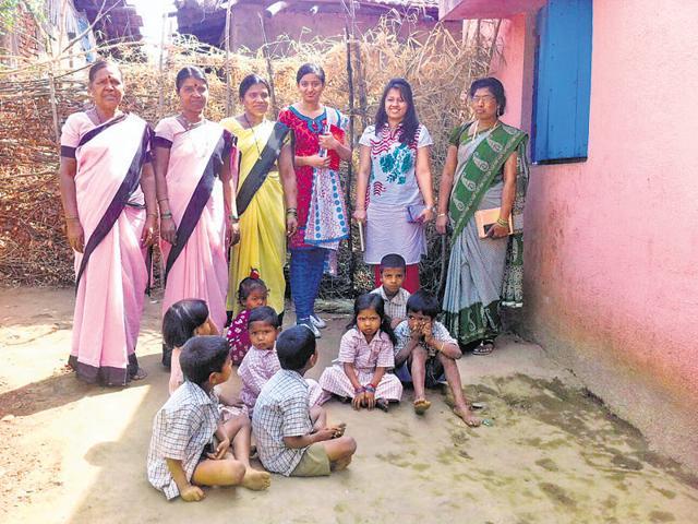 Students of WeSchool at Jawahar.