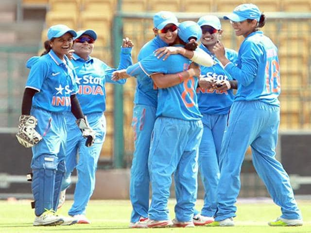 India Women thrash Sri Lanka by 34 runs in the opening T20 of the three-match series in Ranchi.