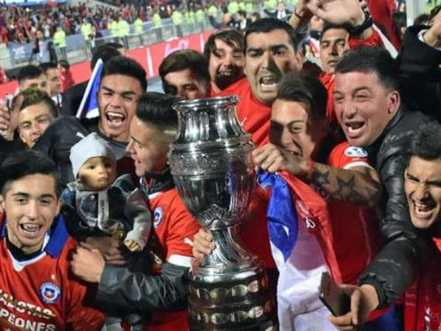 Argentina were drawn against reigning Copa America champions Chile in the group stage for this summer's special centenary edition of the tournament.