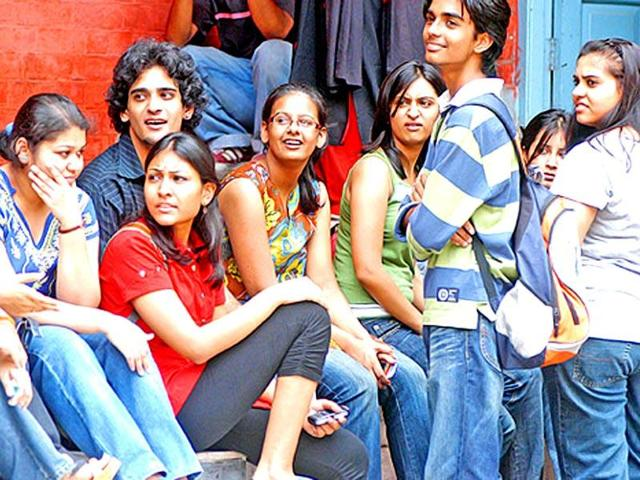 File photo of college students.