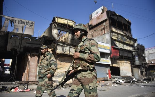 Streets bear a deserted look as curfew continues to be imposed inHisar on Tuesday.