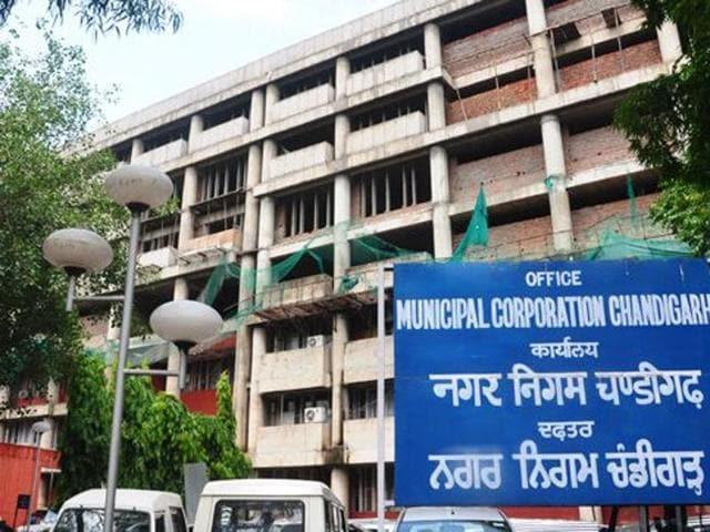 Municipal Corporation office, Chandigarh.(HT Photo)