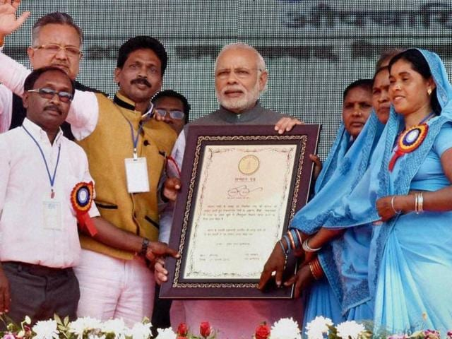 The Shyama Prasad Mukherji Rurban Scheme, aimed at improving basic infrastructure, was launched from the Maoist-hit district of Rajnandgaon.