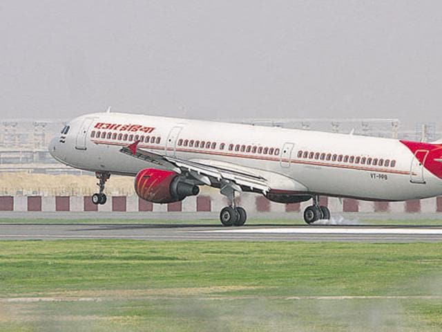 The Air India passenger  was on a flight to Birmingham when the incident happened.