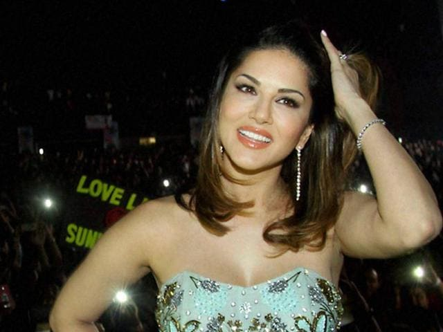 Actor Sunny Leone at LoveLand 2016 music concert in Mumbai on Friday. )