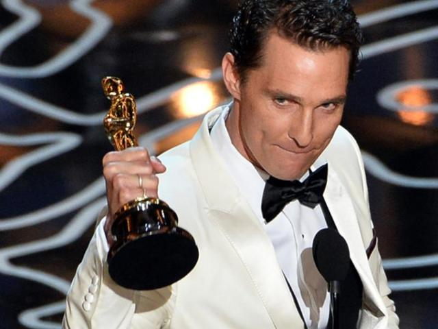 Matthew McConaghuey gave an amazing speech when he won the Oscar for Dallas Buyers Club in 2014.