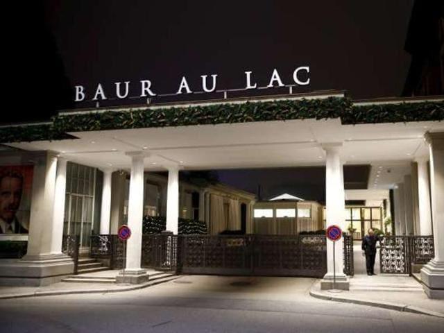 A file photo of the Baur au Lac hotel  in Zurich.