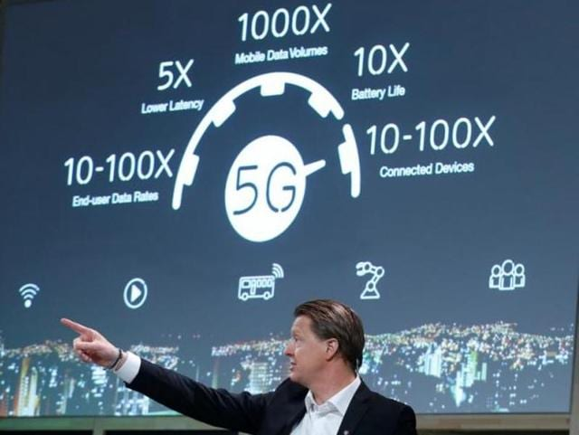 Ericsson CEO Hans Vestberg shares his insights on 5G during a news conference at the Mobile World Congress in Barcelona, Spain February 22, 2016