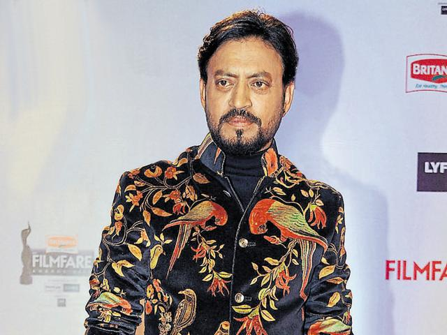 Irrfan Khan attends the '61st Filmfare Awards 2016' ceremony in Mumbai on January 15, 2016.