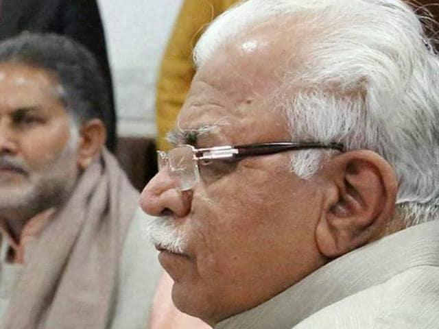 """As soon as he reached Rohtak, the Chief Minister's car was gheraoed by angry people who raised slogans like """"Haryana Police murdabad"""" to protest the state police's alleged failure in controlling the violent situation"""