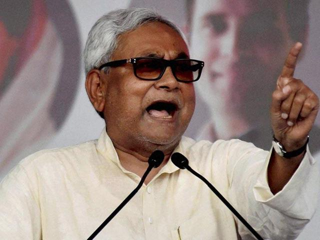 Bihar CM Nitish Kumar said the RSS and BJP wanted to scrap reservations for Dalits and OBCs.(HT Photo)