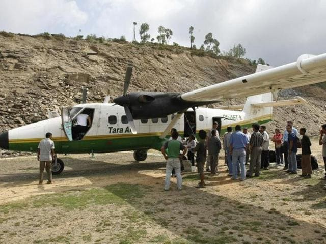 A small plane with 23 people on board went missing while flying in a mountainous area in Nepal on Wednesday. A plane of similar make can be seen in the picture.