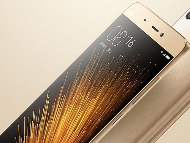 The Xiaomi Mi 5 displayed here. The Chinese smartphone giant is banking on their latest flagship product to dominate the market.