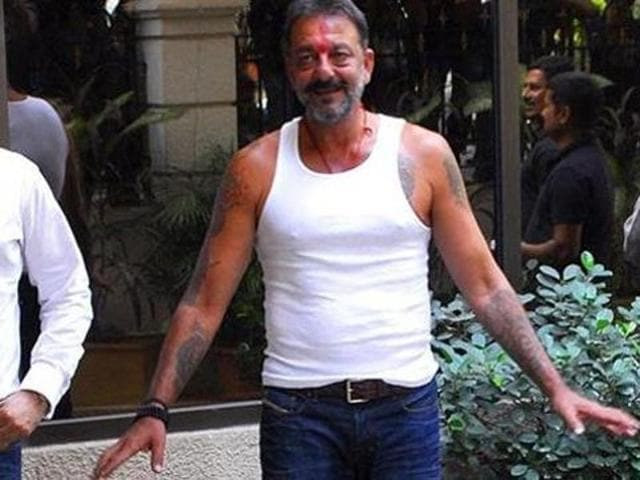 Sanjay Dutt was arrested under the Arms Act. (HT)