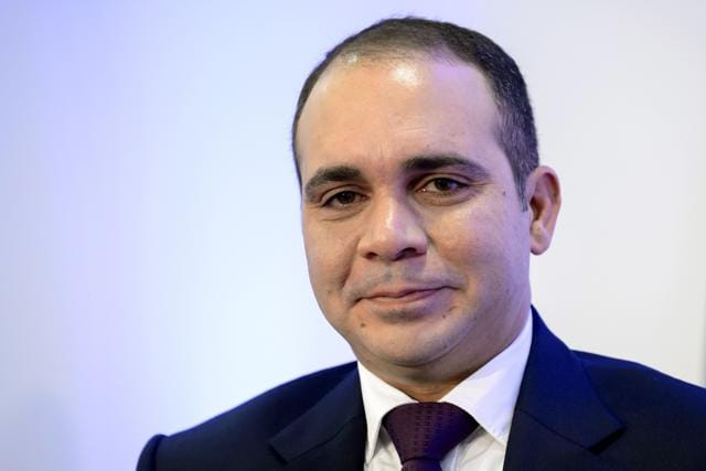FIFA presidential contender Prince Ali bin al Hussein. The prince, one of five contenders in the FIFA presidential race, had wanted transparent voting booths used at the congress but this was rejected by FIFA's election commission on February 23, 2016. / AFP / FABRICE COFFRINI