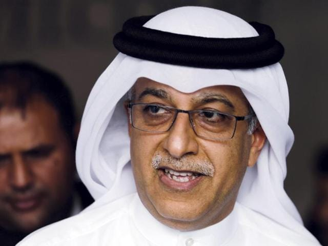 A file photo of  Asian Football Confederation President Sheikh Salman leaving the AFC Congress in Manama.