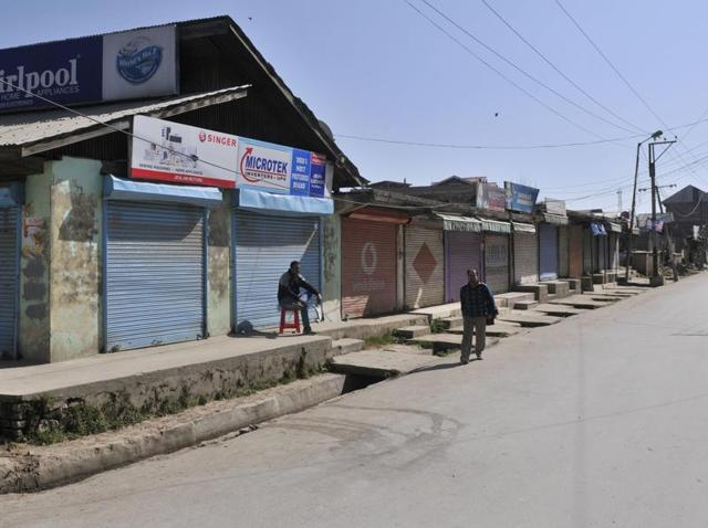 Shops – except for a few fruit-sellers – offices and business establishments were all shut when the HT visited the town on Thursday.