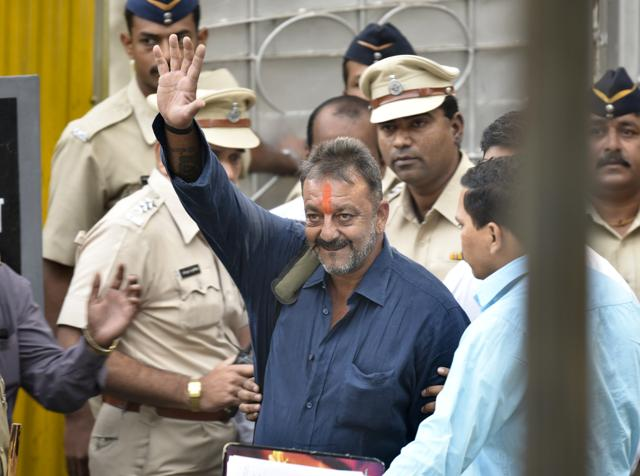 Actor Sanjay Dutt walked free from Pune's Yerawada Jail on Thursday morning after completing his prison term following his conviction in the 1993 Mumbai serial blasts case in Pune, India, on Wednesday, Thusday 25, 2016.