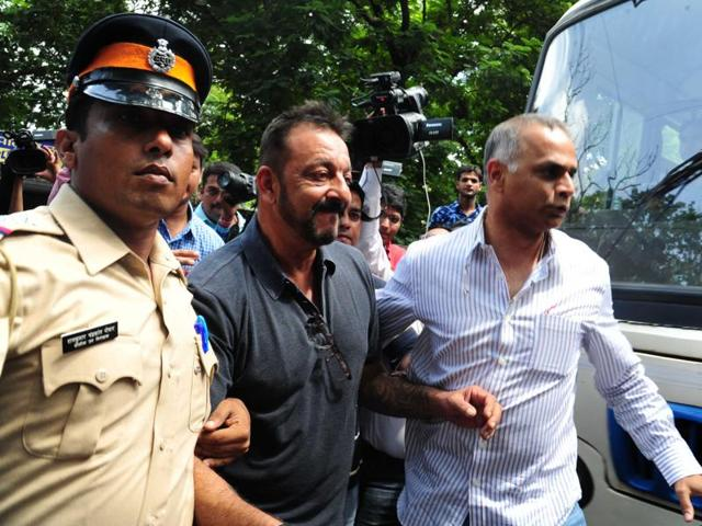 It would come as a relief for the Dutt family, which has undergone the ordeal of seeing Sanjay Dutt walk in and out of police stations.(HT Photo)