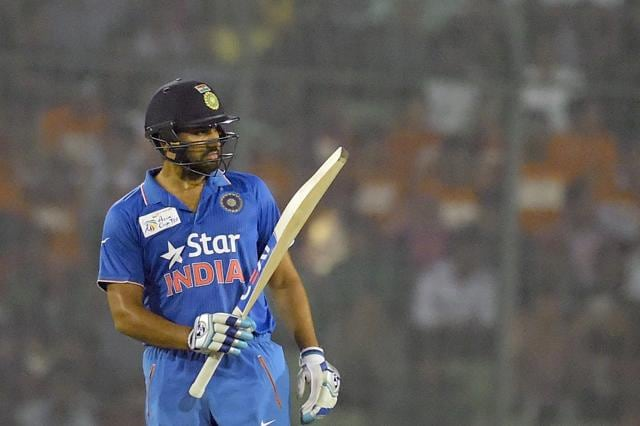 Rohit Sharma's  55-ball 83 that included seven fours and three sixes was instrumental to India reaching a competitive total.