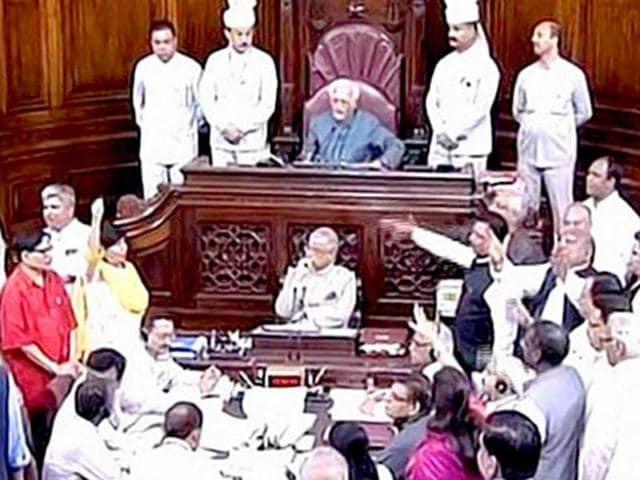 The Rajya Sabha in session on Wednesday.