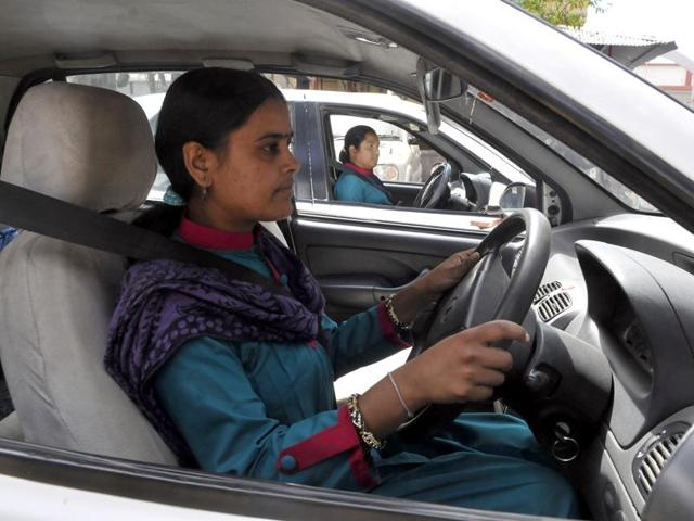 Under the 'Women on Wheels' programme, 45 women have learnt how to drive.