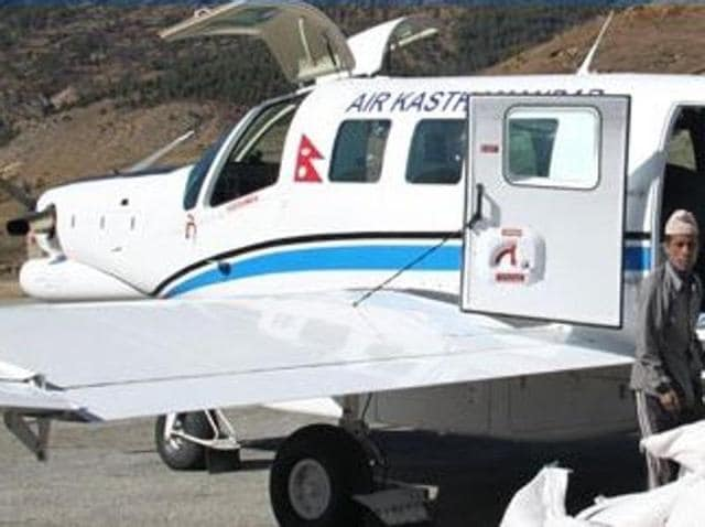 PAC P-750 aircraft operated by Air Kasthamandap of Nepal. A similar plane with 11 people on board crashed on Friday and the pilot and co-pilot were killed.