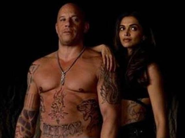 Deepika Padukone and her xXx co-star Ruby Rose got photobombed by Vin Diesel.
