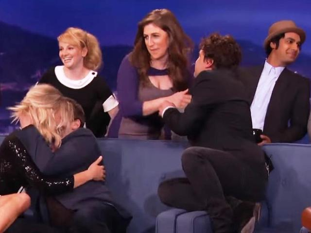 The Big Bang Theory cast went a little too wild in the latest episode of The Tonight Show.
