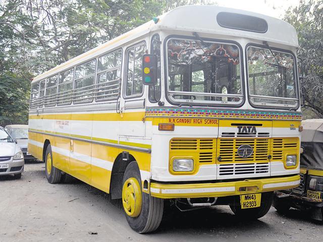 The boy was knocked down by a school bus at Ghatkopar.
