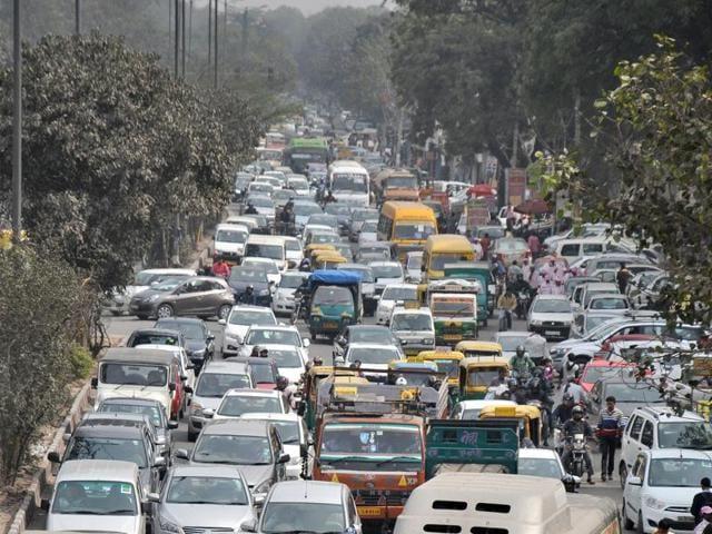 Prahladpur traffic light on Mehruali-Badarpur Road  on Saturday.