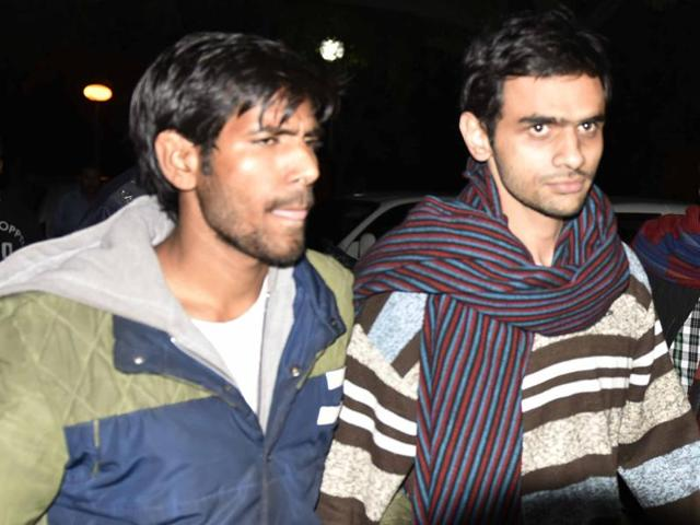 Khalid and Anirban, arrested on charges of sedition for raising anti-India slogans on February 9, are in police custody.