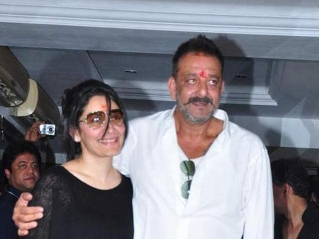 Mumbai: Actor Sanjay Dutt who was released from Pune's Yerwada Jail after completing his jail term addresses a press conference in Mumbai, on February 25.