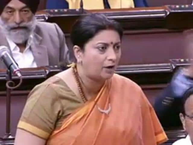 HRD minister Smriti Irani's remarks over the JNU issue created a ruckus in the Parliament on Friday.