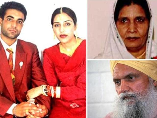 NRI Jaswinder with husband Sukhwinder Singh (Mithu). Jaswinder was killed by men allegedly hired by her mother Malkit Kaur (top right) and uncle Surjit Singh Badesha.