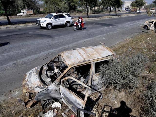 HT spoke to some stranded travellers whose vehicles were vandalised at Murthal during the Jat agitation. They denied having seen or heard about any such incident.