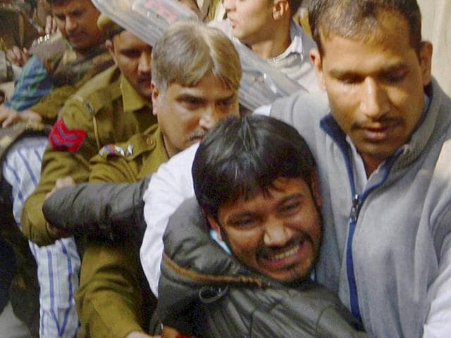 """I told the police that this man had assaulted me, but he was not arrested and was let off,"" JNUSU president Kanhaiya Kumar said."
