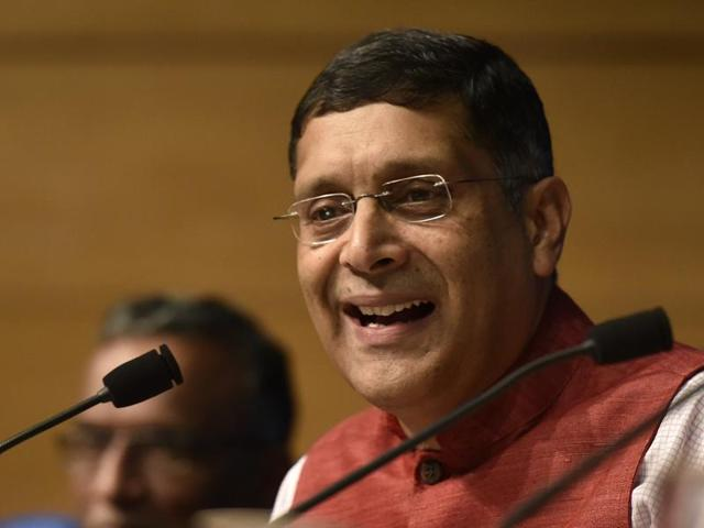 Dr. Arvind Subramanian, Chief Economic Adviser, addressing media on Economic Survey 2015- 16 in New Delhi on February 26, 2016.