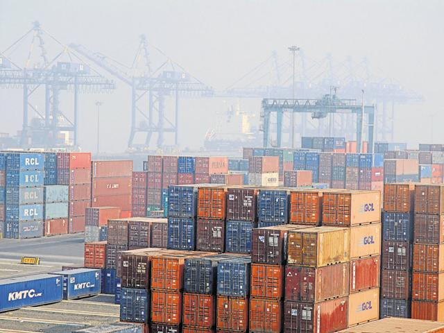 After suffering negative contractions for more than a year, India's exports are slated to pick up in the next fiscal year.(HT Photo)