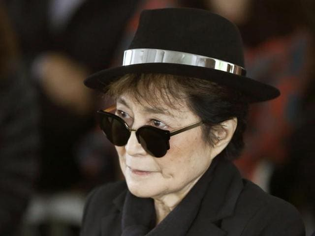"Yoko Ono was hospitalized on her doctor's recommendation, with what appeared to be ""just an advanced case of the flu"", her spokesman said."