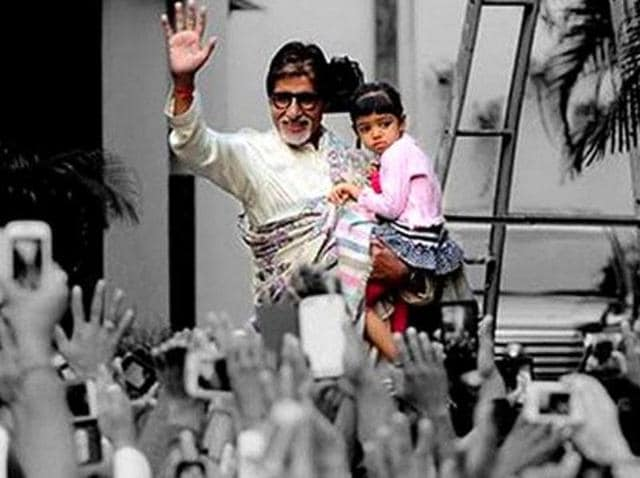 Big B added that Aaradhya has yet to see her family members' films, 'which collectively is a lot of films', but she recognises the odd hoardings on the streets.