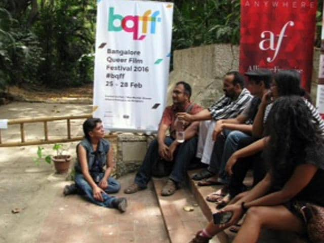Organisers of the Banglaore Queer Film Festival say that  two members of the team were called to the police station for questioning.