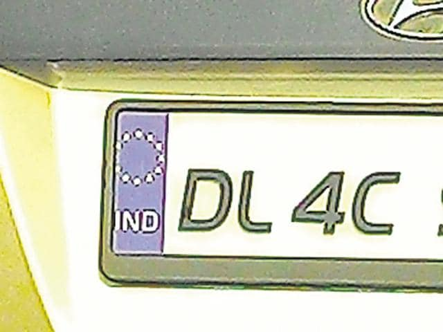 Cars bearing number plates like those used in the scenic continent –with EU's flag of twelve yellow stars arranged in a circle against a blue background – along with the acronym 'IND' beneath it are common these days.