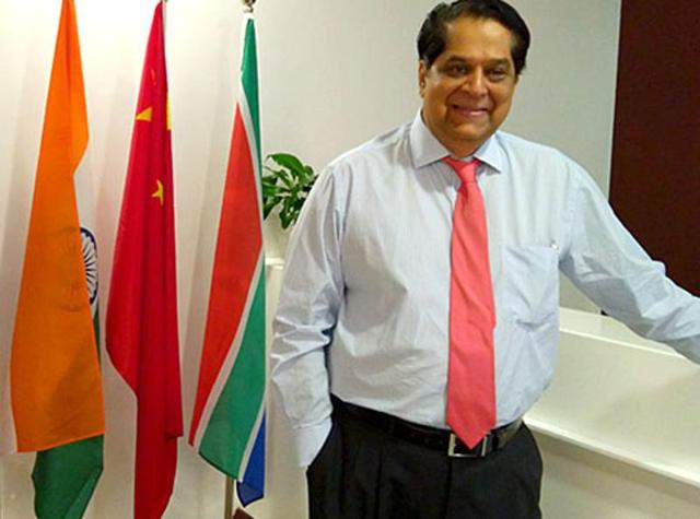 KV Kamath, the president of the multilateral BRICSbank, said that India's economy was poised to grow at a steady rate.