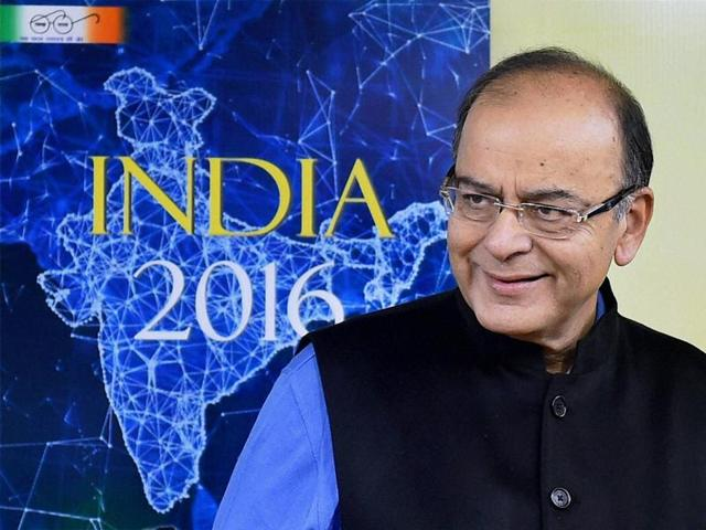 Union minister for finance, Arun Jaitley at the release of the Bharat 2016 and India 2016, in New Delhi.