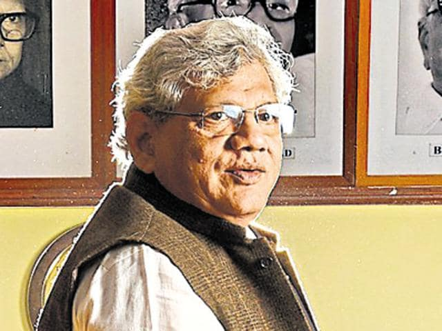 Sitaram Yechury, who prefers politics to politicking, believes in integrating the traditional Marxist analysis of the class struggle with the India-specific struggle against caste.(Raj K Raj/HT Photo)