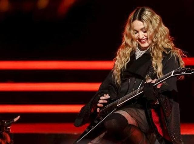 Singer Madonna performs during her concert at the AccorHotels Arena in Paris, France, December 9, 2015, on her Rebel Heart Tour. (REUTERS)