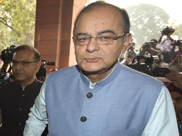 Finance minister Arun Jaitley sought the speaker's permission to sit during the budget speech.
