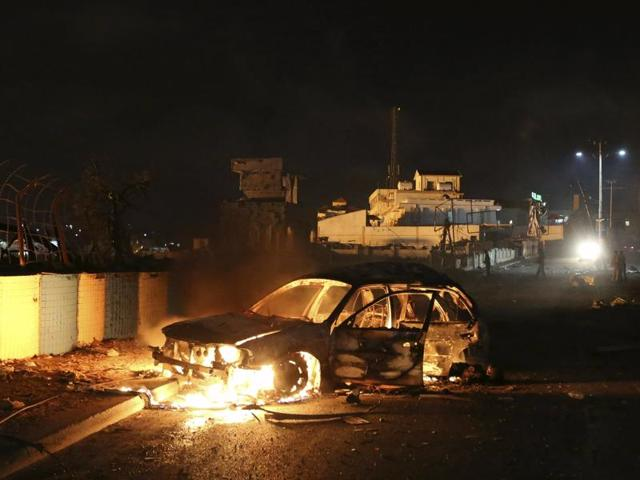 The blasts follows a car bomb attack in Mogadishu near a park and hotel on Friday that killed 14 people, police said.
