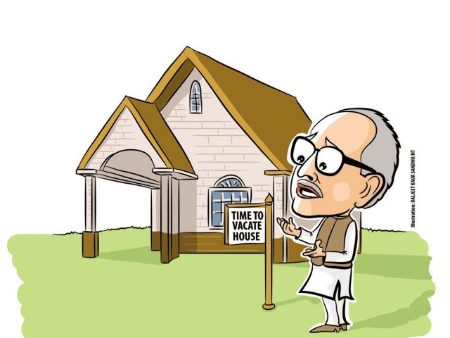 As per the rules, the ministers are entitled to official accommodation (spacious bungalows) only for one month after the government ceases to exit. The one-month period ended on February 7, but the officials in the estate department had not initiated any action for their eviction.
